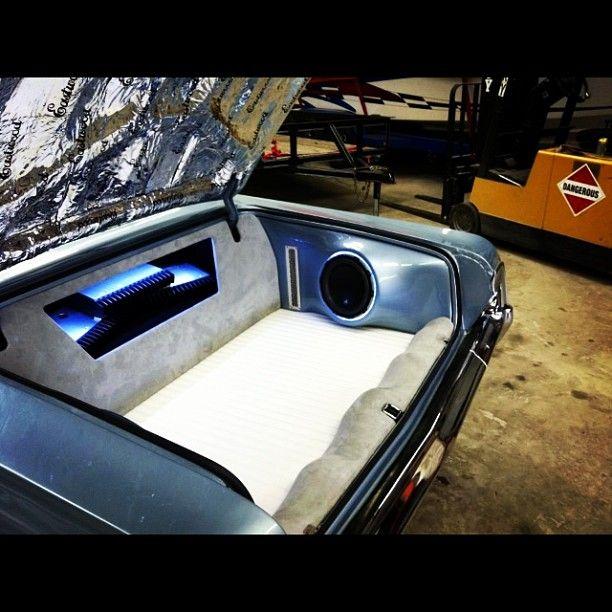 BecauseSS 64 impala ss custom car stereo trunk install JL