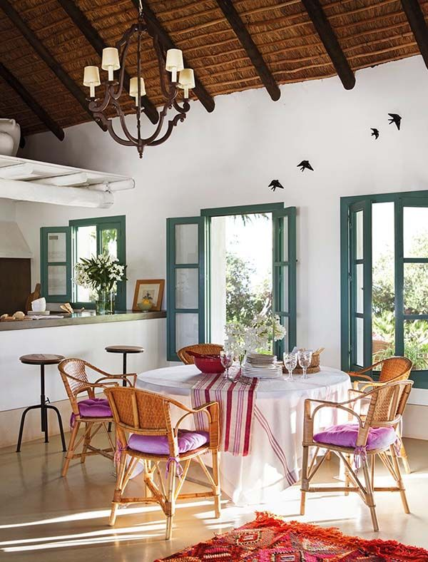 Colorful Andalusian Farmhouse Nestled In A Spanish Olive Grove Mesmerizing Dining Room Spanish Translation Review