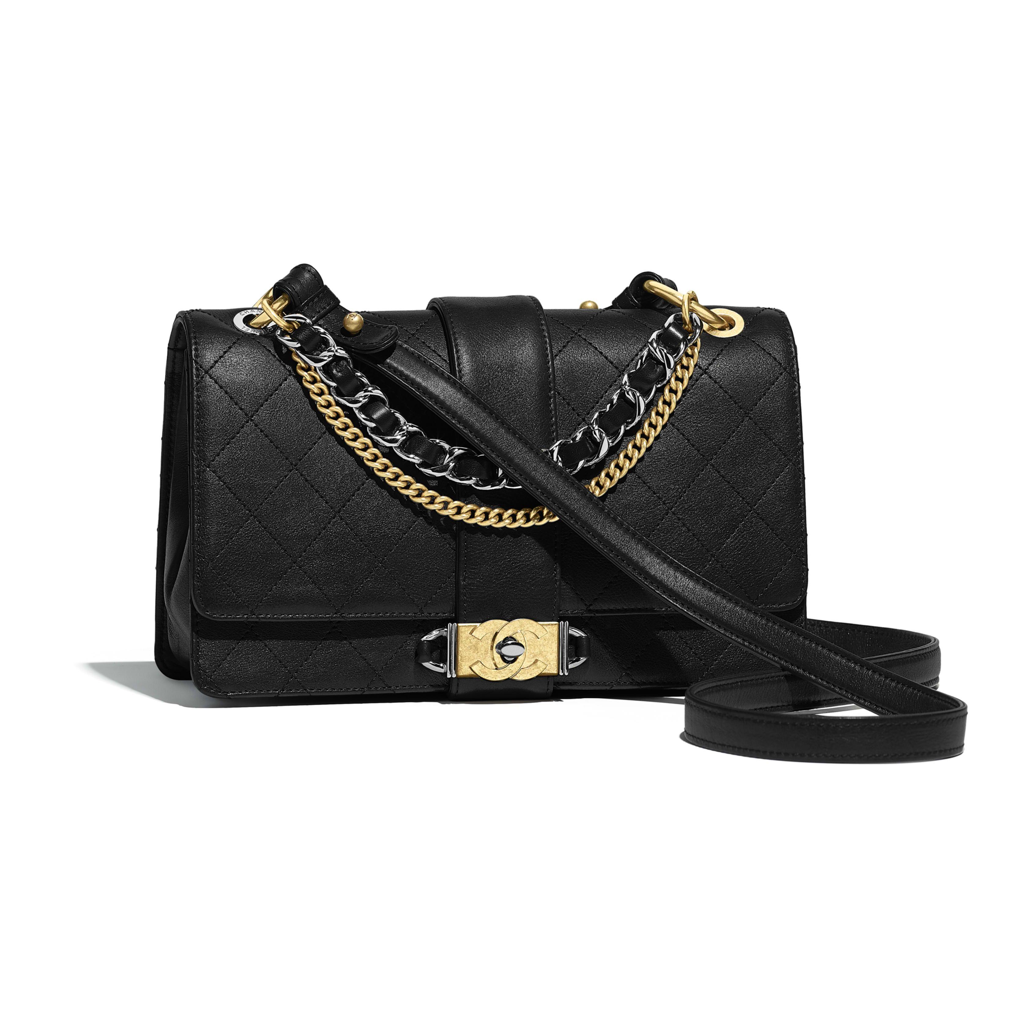 f933900988 Flap Bag - Black - Calfskin