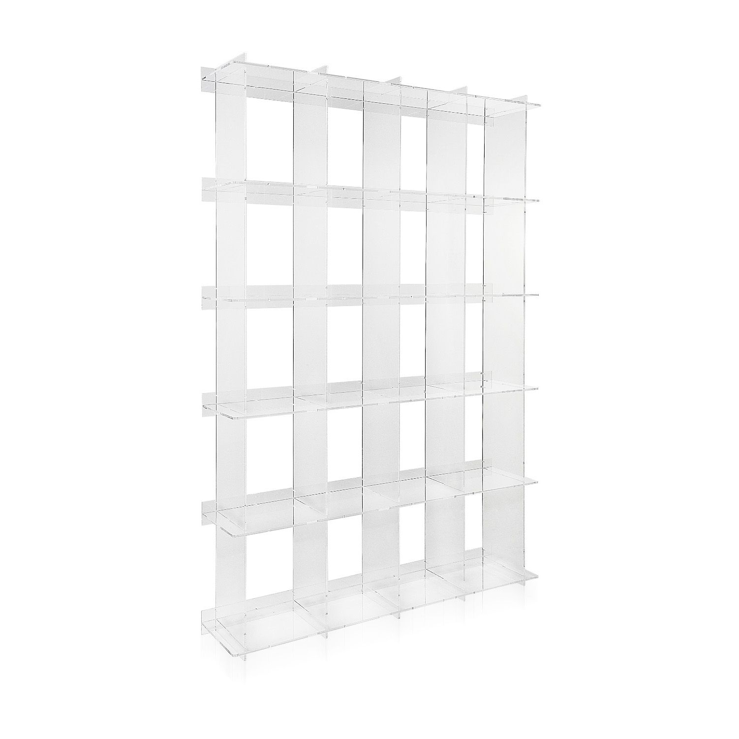 design acrylic inside bookcase shelves out book