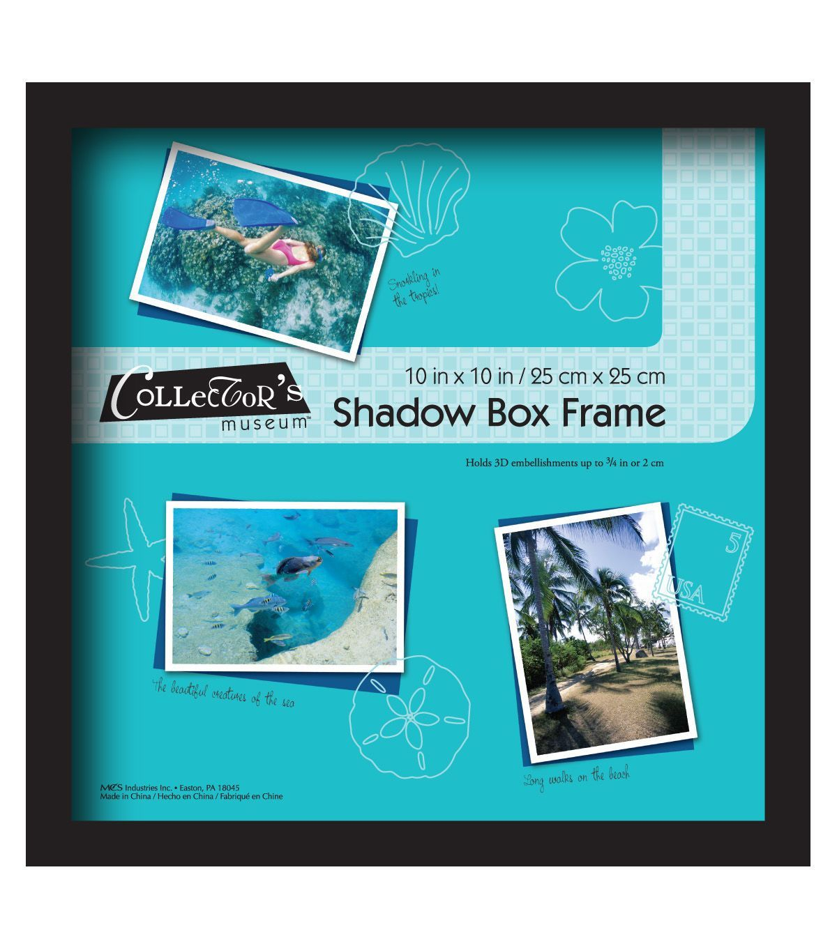 Mcs Industries Collector S Museum Shadow Box Frame 10 X10 Black Products Shadow Box Frames Box Frames Frames On Wall