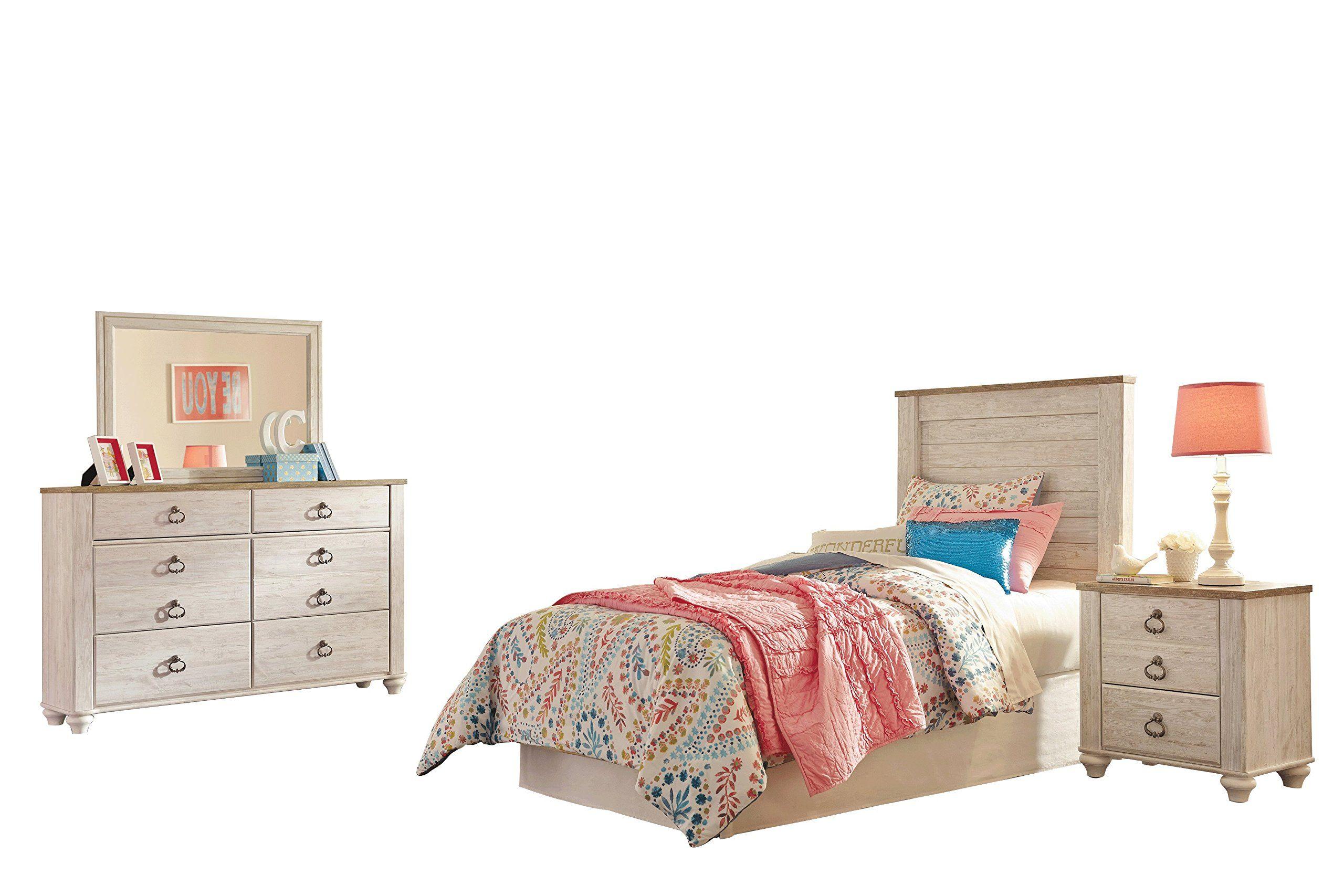 Ashley Willowton 4PC Full Panel Headboard Bedroom Set In