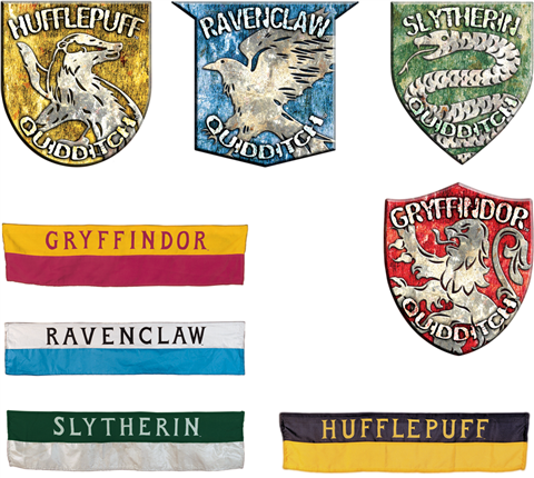 Harry Potter Quidditch Banners and House Crests