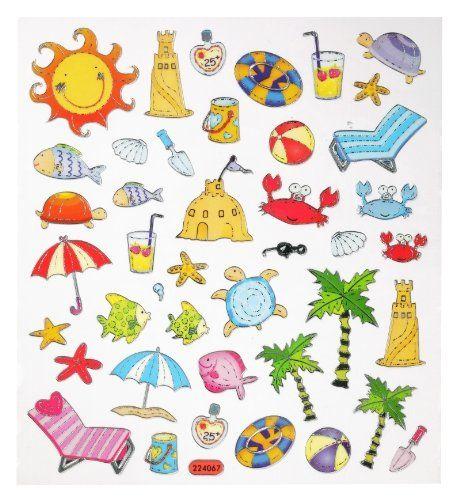 hobby design sticker sommer urlaub strand meer aufkleber 3452332 malen basteln. Black Bedroom Furniture Sets. Home Design Ideas