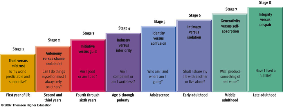 Erik Erikson's stages of psychosocial development | Things That ...