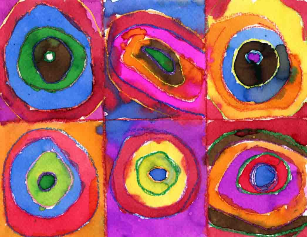 Art Projects for Kids: Kandinsky Watercolor Painting