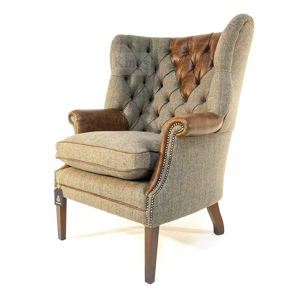Tetrad Harris Tweed Mackenzie Chair Leather in 2019 ...