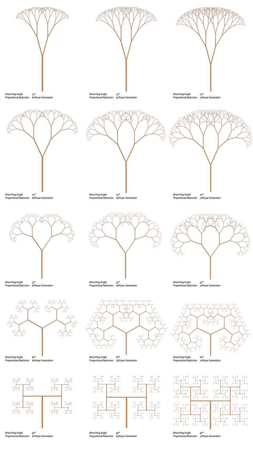 Fractal Trees – Basic L-System- Example 9.4