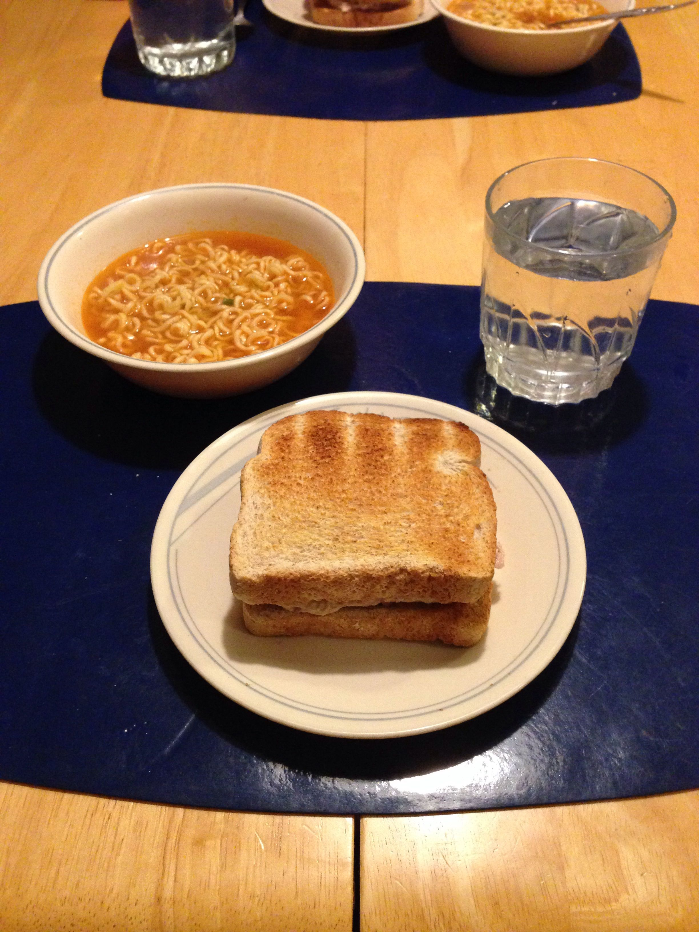 Soup and sammich for a rainy day.