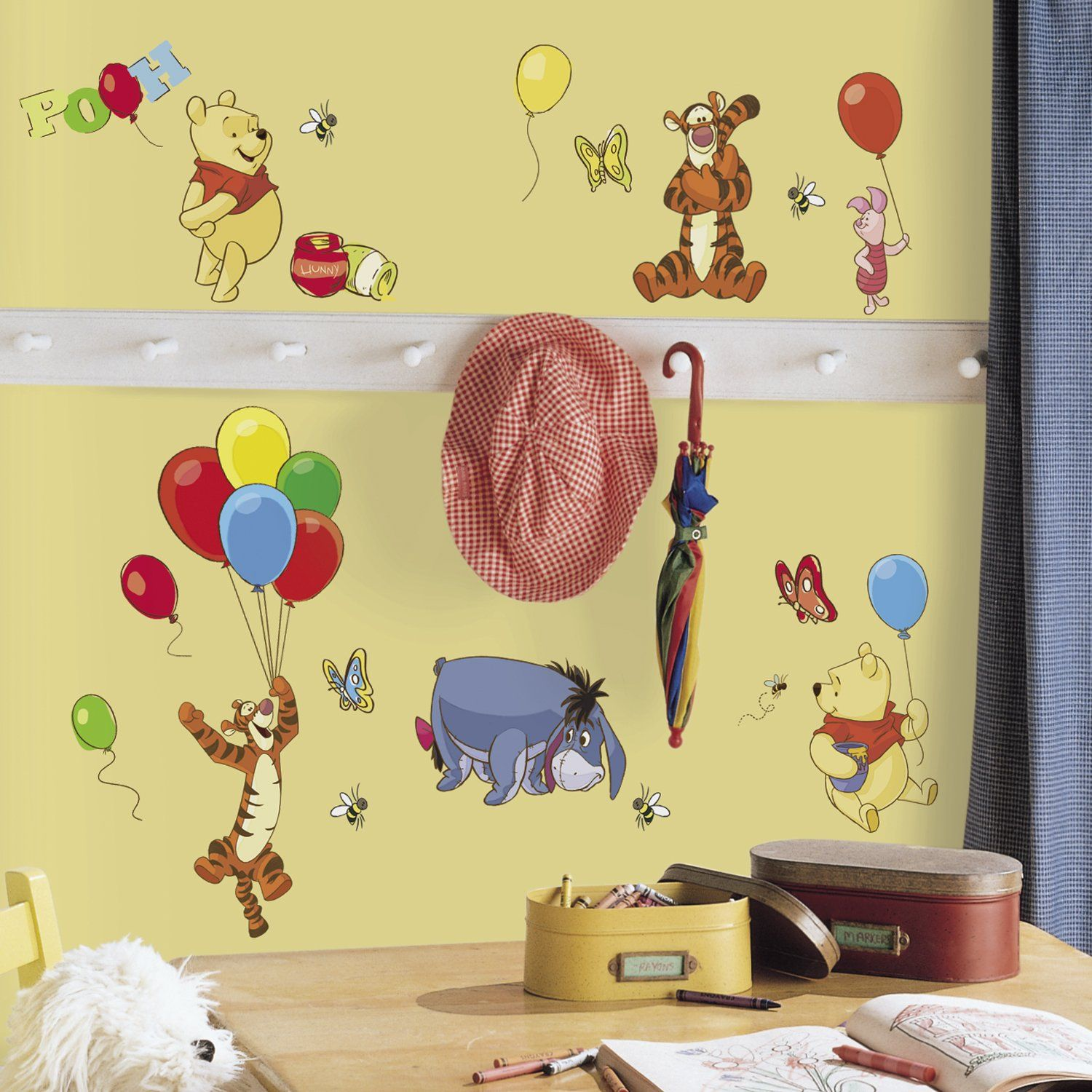 SALE!! Pooh And Friends Peel & Stick Wall Decals | Baby and Kids ...
