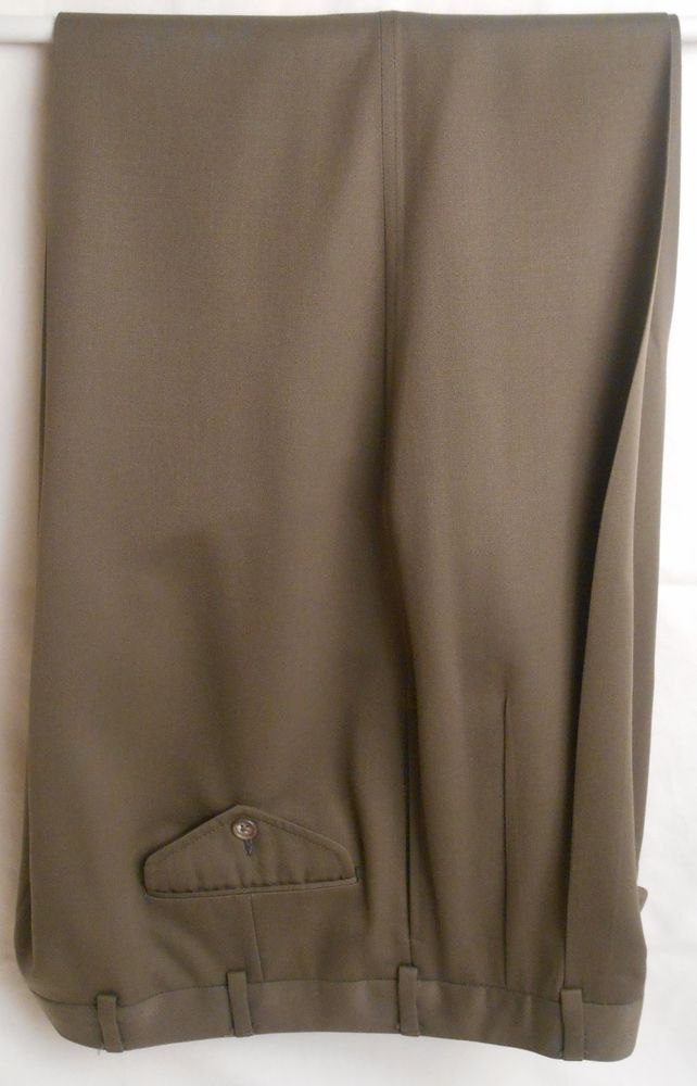JOS. A. BANK Men's 100% Wool Size 38W x 33L Brown Dress Slacks