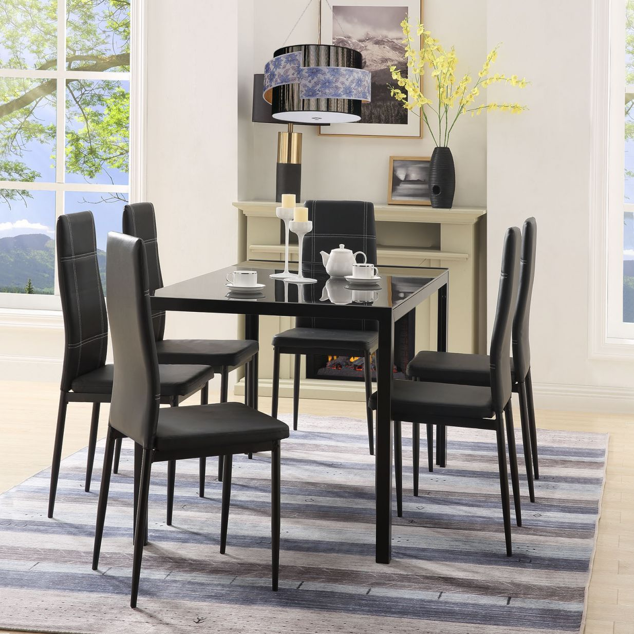 Wonderful Kitchen Table And Chairs Heavy Duty in 9   Glass ...