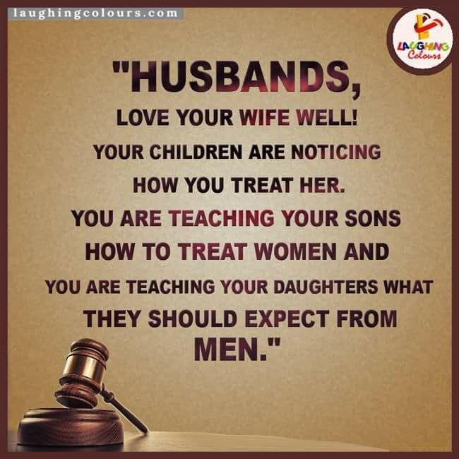 Yes. Thats why I am how I am, my dad treated my mom like