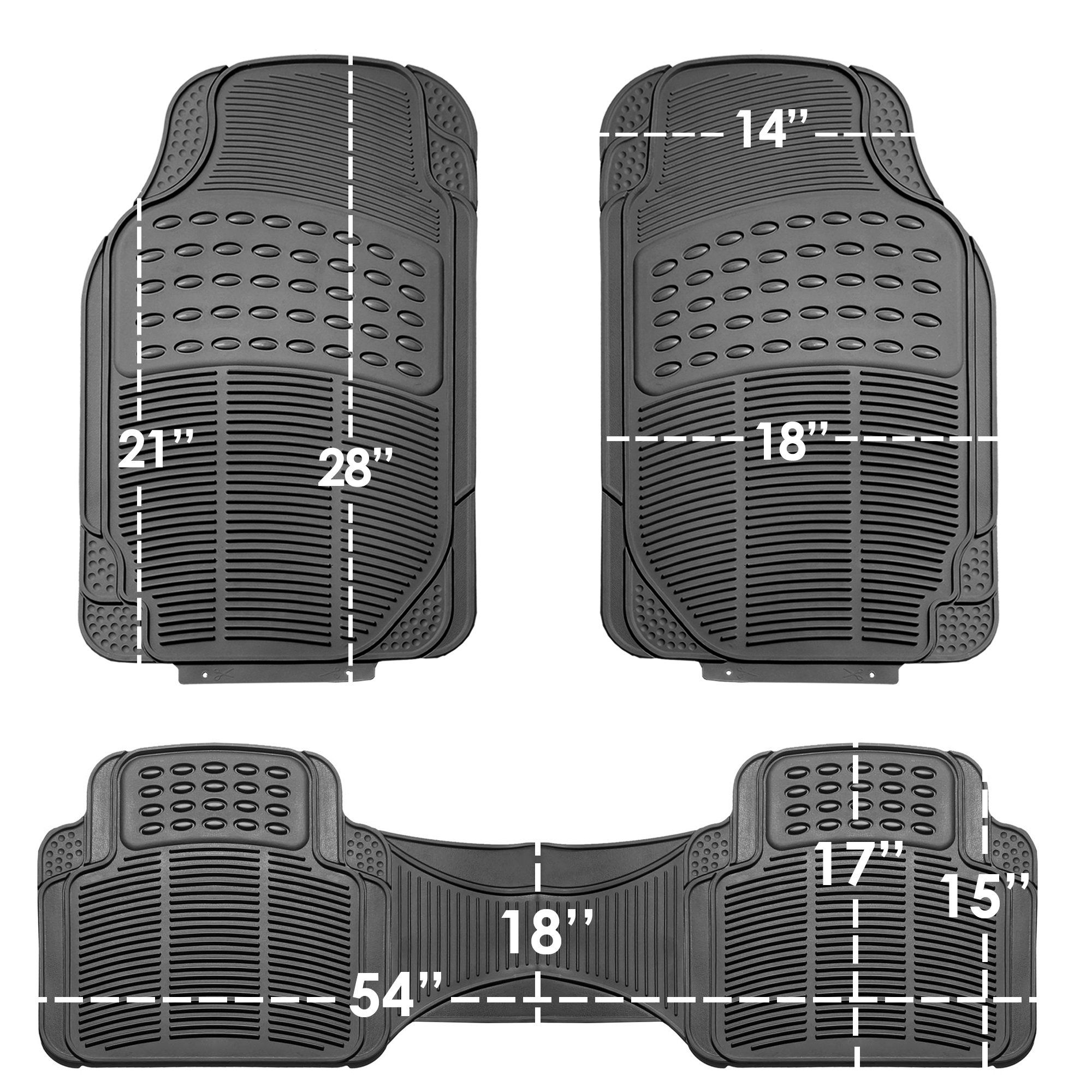 2013 Chevrolet Impala Red Oriental Driver /& Passenger Floor 2012 2008 2011 2007 2010 2009 GGBAILEY D2304A-F1A-RD-IS Custom Fit Car Mats for 2006