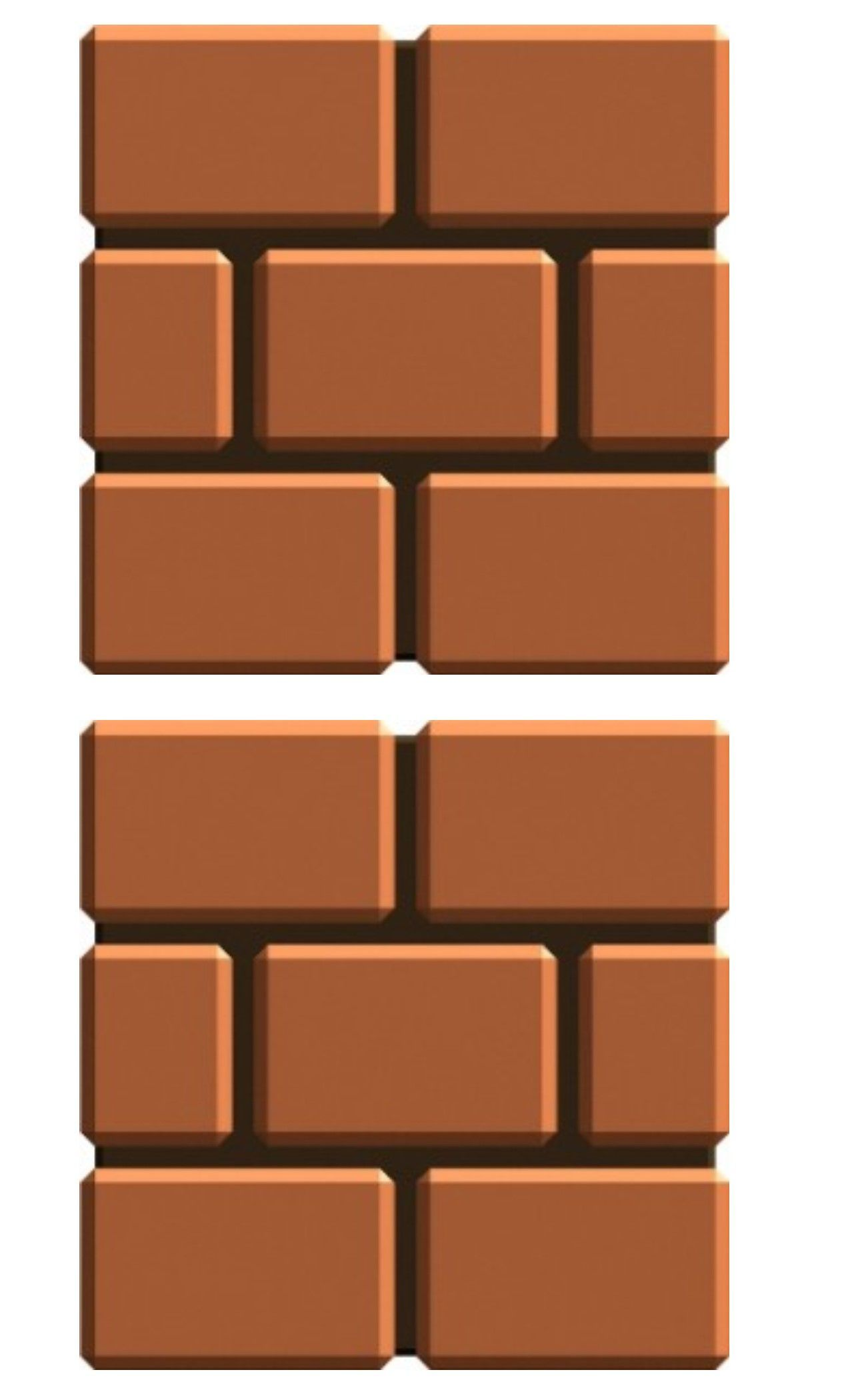7 Brick Box Template Super Mario Brothers Designed By Missy Robb Look For Pinterest Pinner Melissa R Mario Bros Party Super Mario Bros Party Super Mario