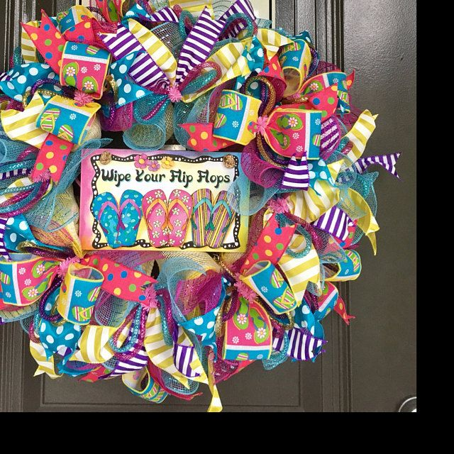 Photo of Turquoise and Blue wreath, Winter wreath for front door, Holiday decoration, Snowflake ribbons, Realtor client gift, Fireplace decor