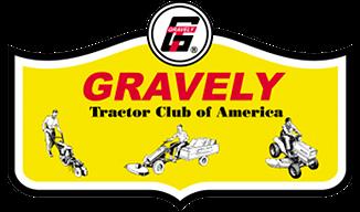 gravely logo. gravely tractor club of america logo