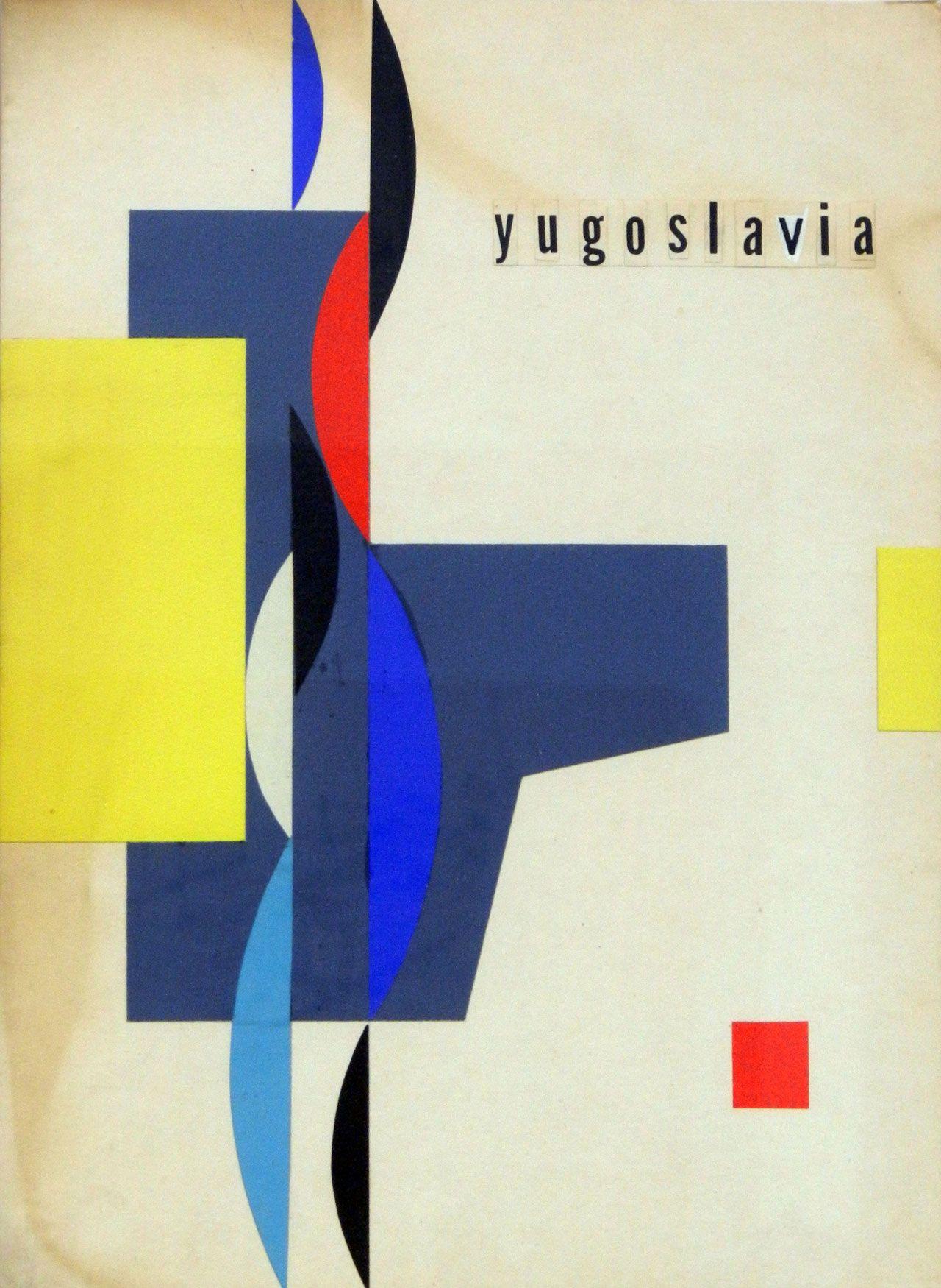 Yugoslavia Book Cover Design Vintage Posters Graphic Design Illustration