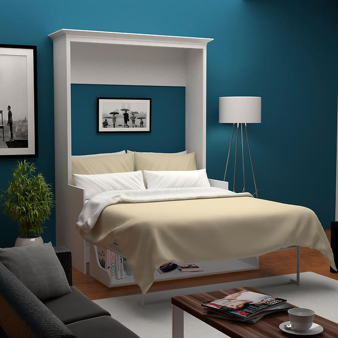 Wall Bed Desk Modern Murphy Beds, Bed & Room Porter Queen Portrait Wall Bed With Desk