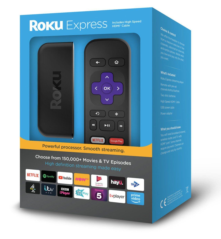 Roku Express 2017 HD Streaming Media Player £17.99 Argos