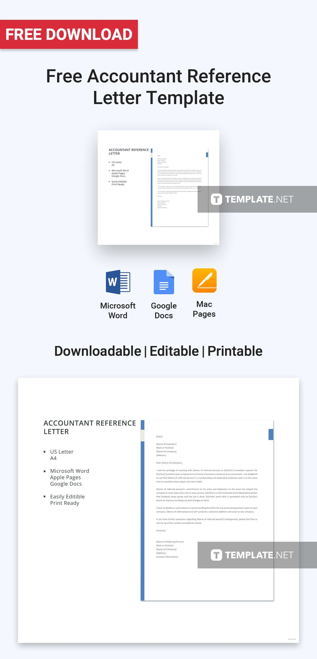 Free accountant reference letter in 2018 free letter templates free accountant reference letter in 2018 free letter templates pinterest reference letter letter templates and template expocarfo Image collections