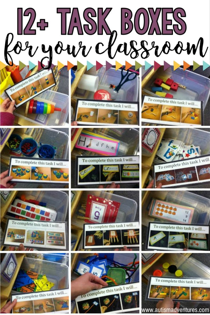 Classroom Ideas For Autistic Students ~ Teacch task boxes autism classroom and