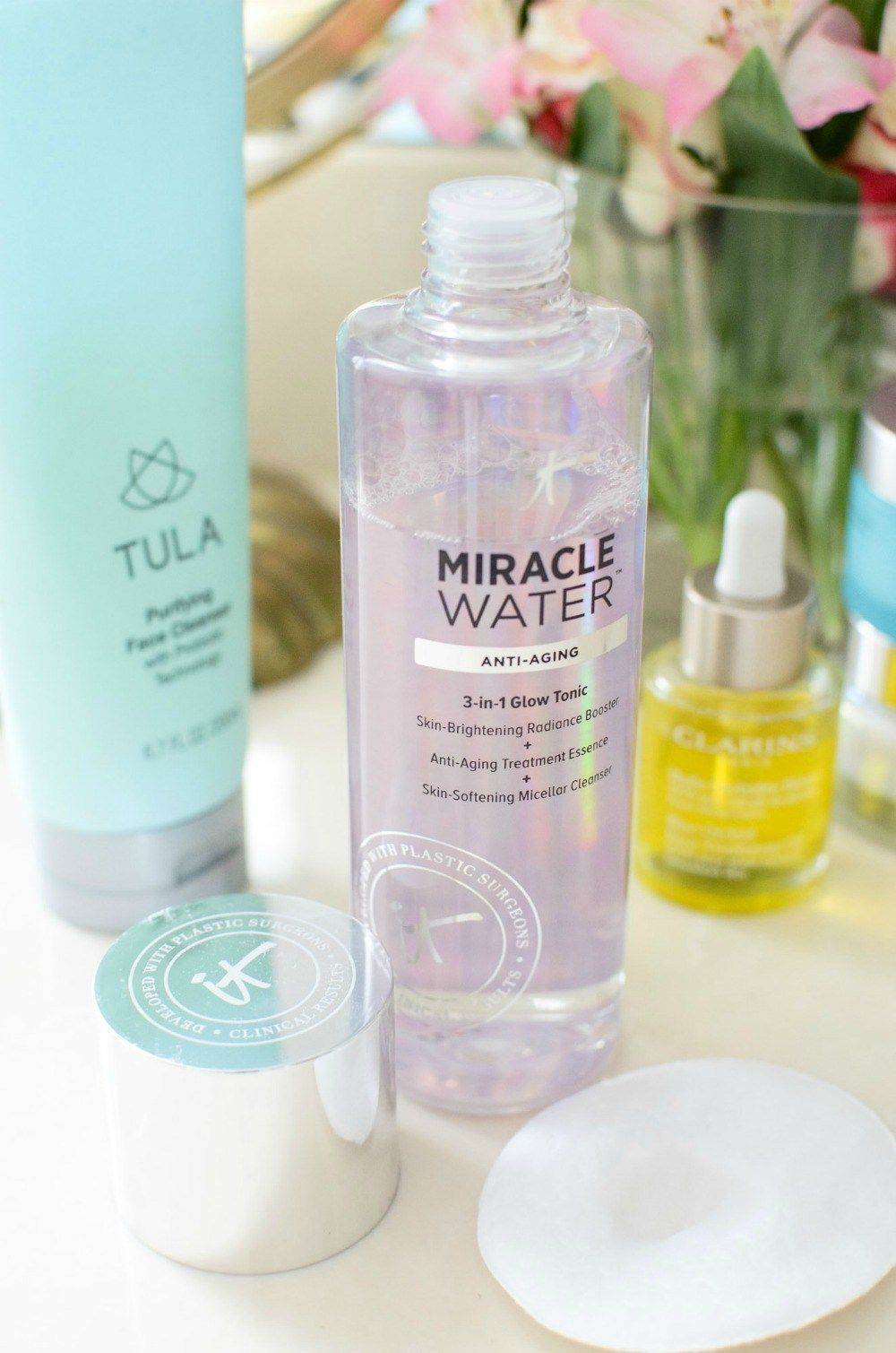 It cosmetics skincare miracle water  best skincare  Sunflowers and