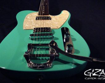 Twisted Lester Custom Electric Guitar by GZanGuitarsAndArt on Etsy