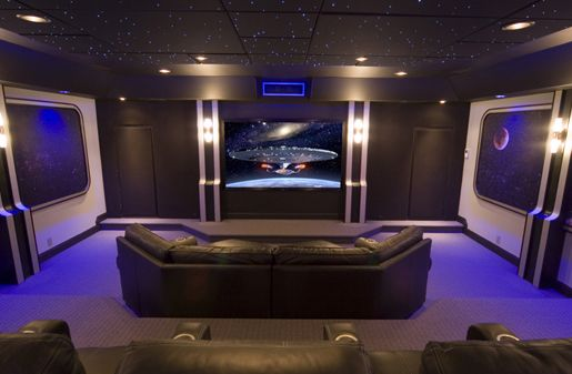 Star Trek home theatre home theatre Pinterest Room Cellar