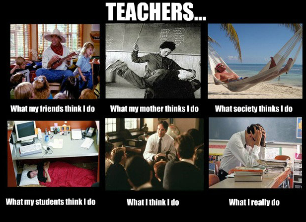 If you are a teacher, this is very funny!
