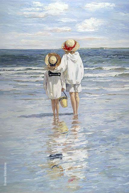 """""""Das Fräulein stand am Meere  und seufzte lang und bang.  Es rührte sie so sehre  der Sonnenuntergang.  Mein Fräulein! Sein Sie munter,  das ist ein altes Stück:  Hier vorne geht sie unter  und kehrt von hinten zurück.""""  (Heinrich Heine)"""