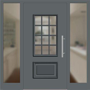 aluminium haust r modell 418 15 basaltgrau mit seitenteil links und rechts house pinterest. Black Bedroom Furniture Sets. Home Design Ideas