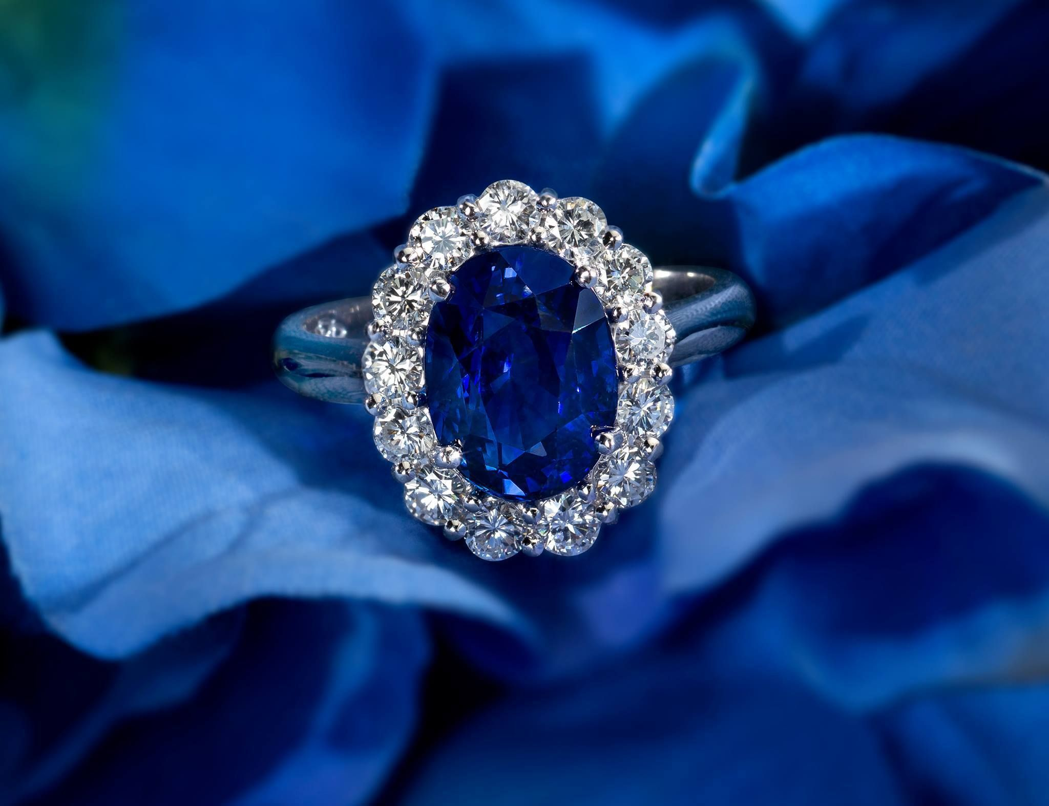 Fit for royalty. Wouldn't this sapphire ring make the