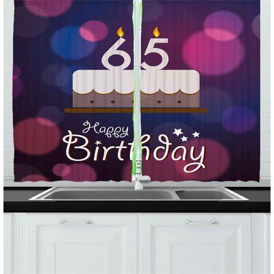 East Urban Home 2 Piece 65th Birthday Kitchen Curtain | Wayfair #17thbirthday