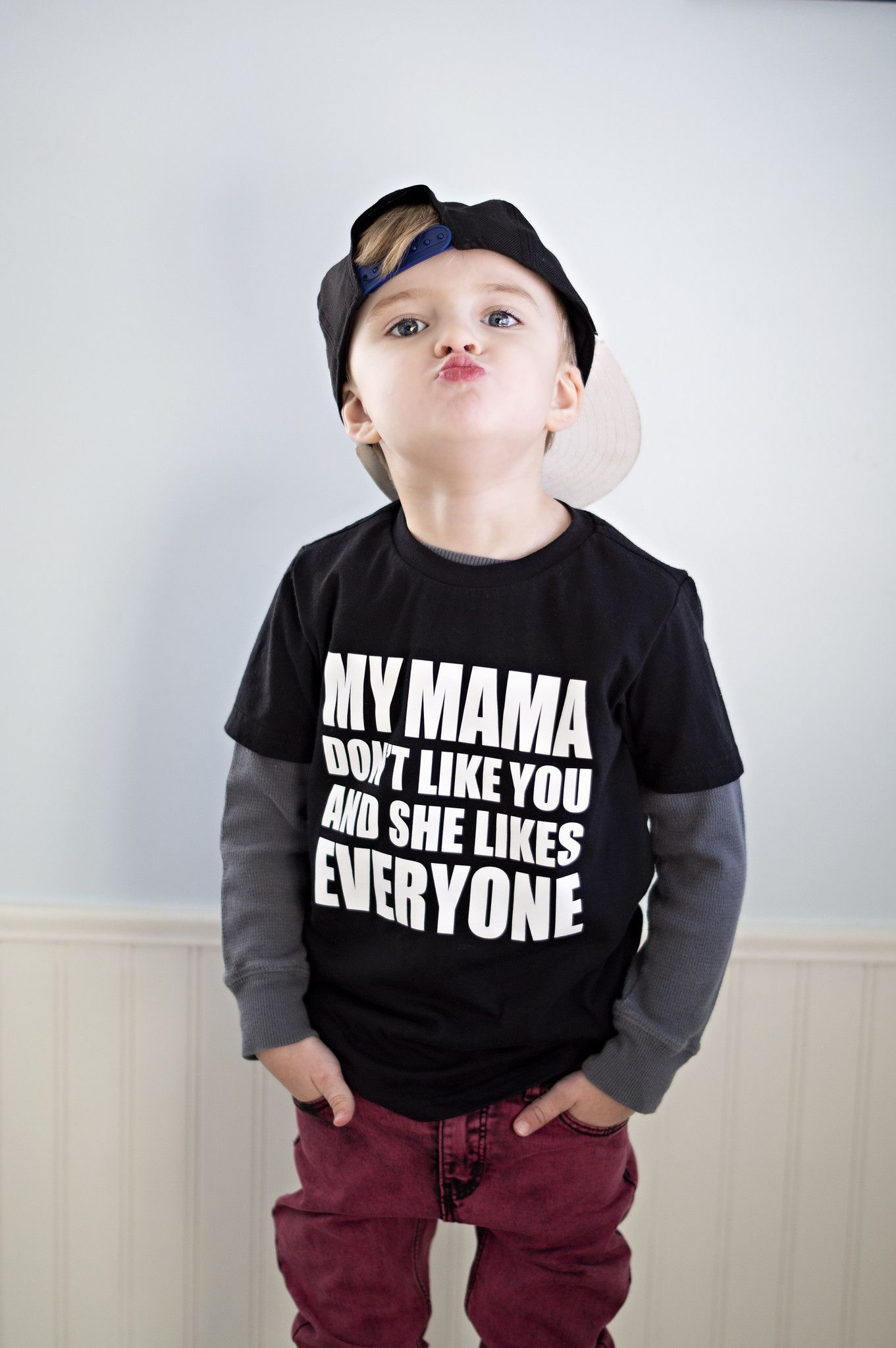 My Mama Don T Like You And She Likes Everyone Kids Outfits Funny Baby Boy Mom Of Boys Shirt