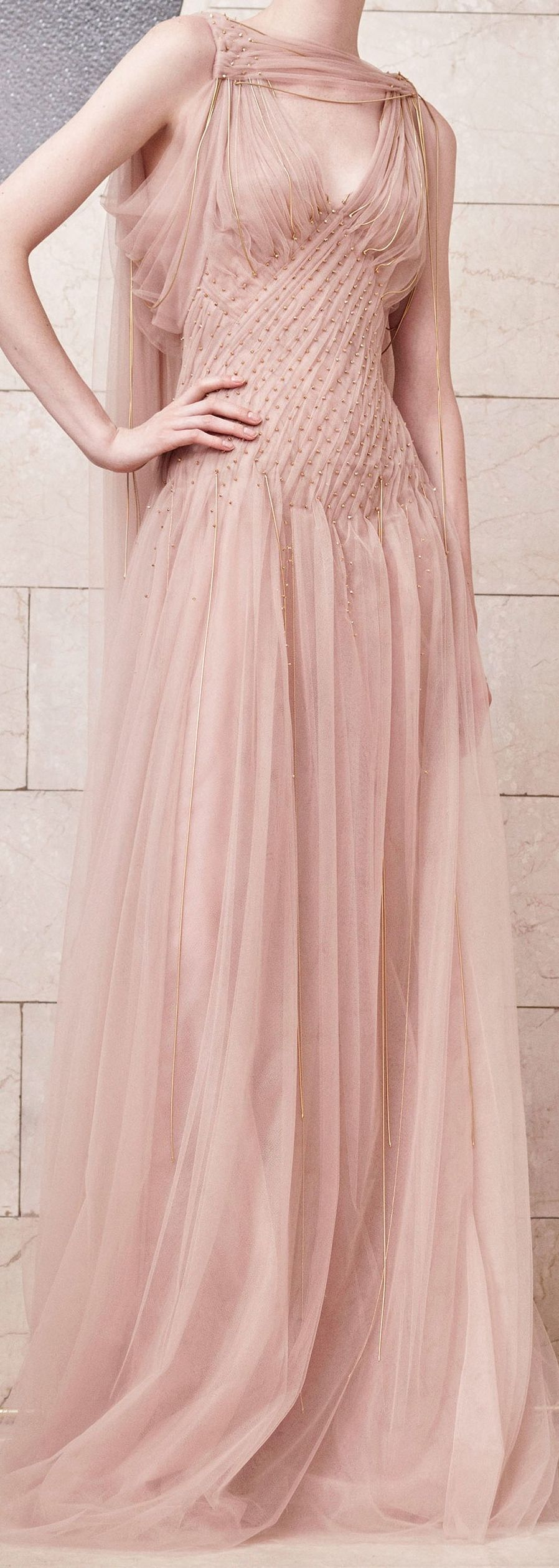 Versace wedding dress  Atelier Versace Fall  Couture  Fashion  Drape  Pattern