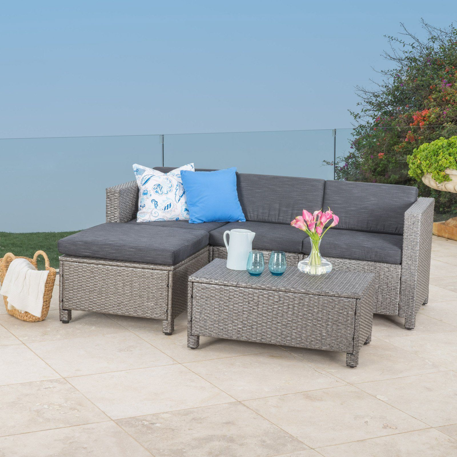 Outdoor best selling home decor furniture mariah 5 piece patio conversation set 296667