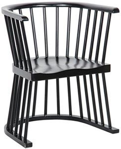 Bolah Chair Hand Rubbed Black Furniture Accent Chairs