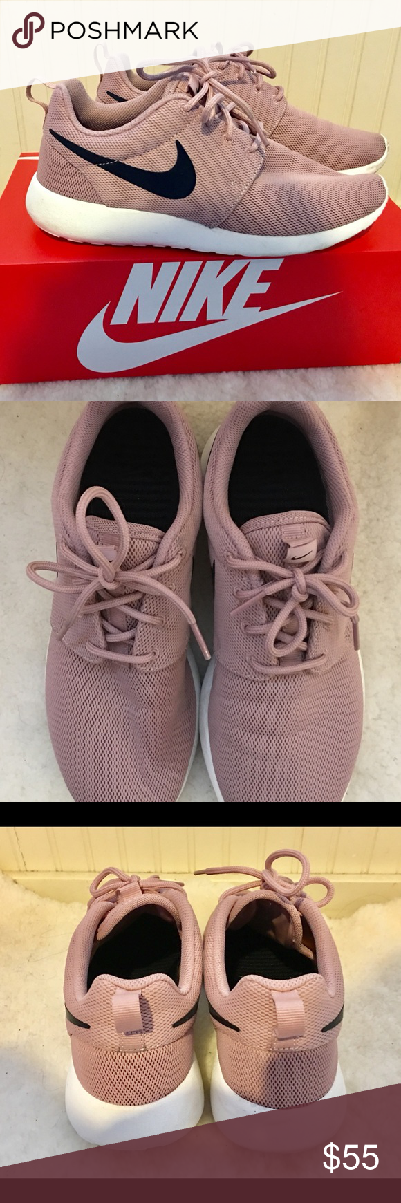 Nike Roshe One shoes particle pink 7.5
