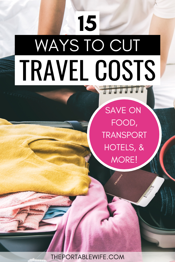 My tips for saving money on vacation will help you stretch your travel budget. From basic budget travel hacks to smart travel tips--like buying groceries instead of going to restaurants--these easy ways to cut travel costs will keep your wallet happy. Includes ideas to save on airfare, hotels, transport, and more! #budgettravel #savemoney #traveltips #travelhacks