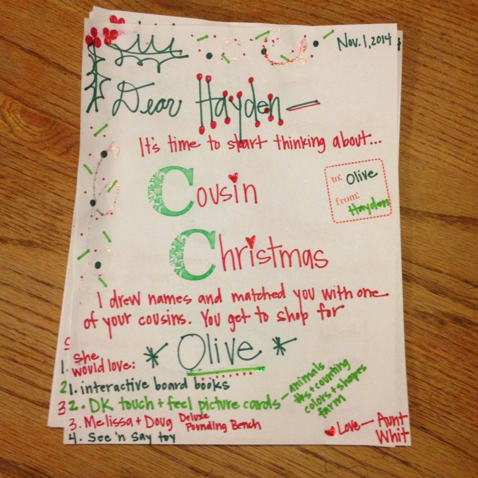 Cousin christmas letters a fun way to do cousin gift
