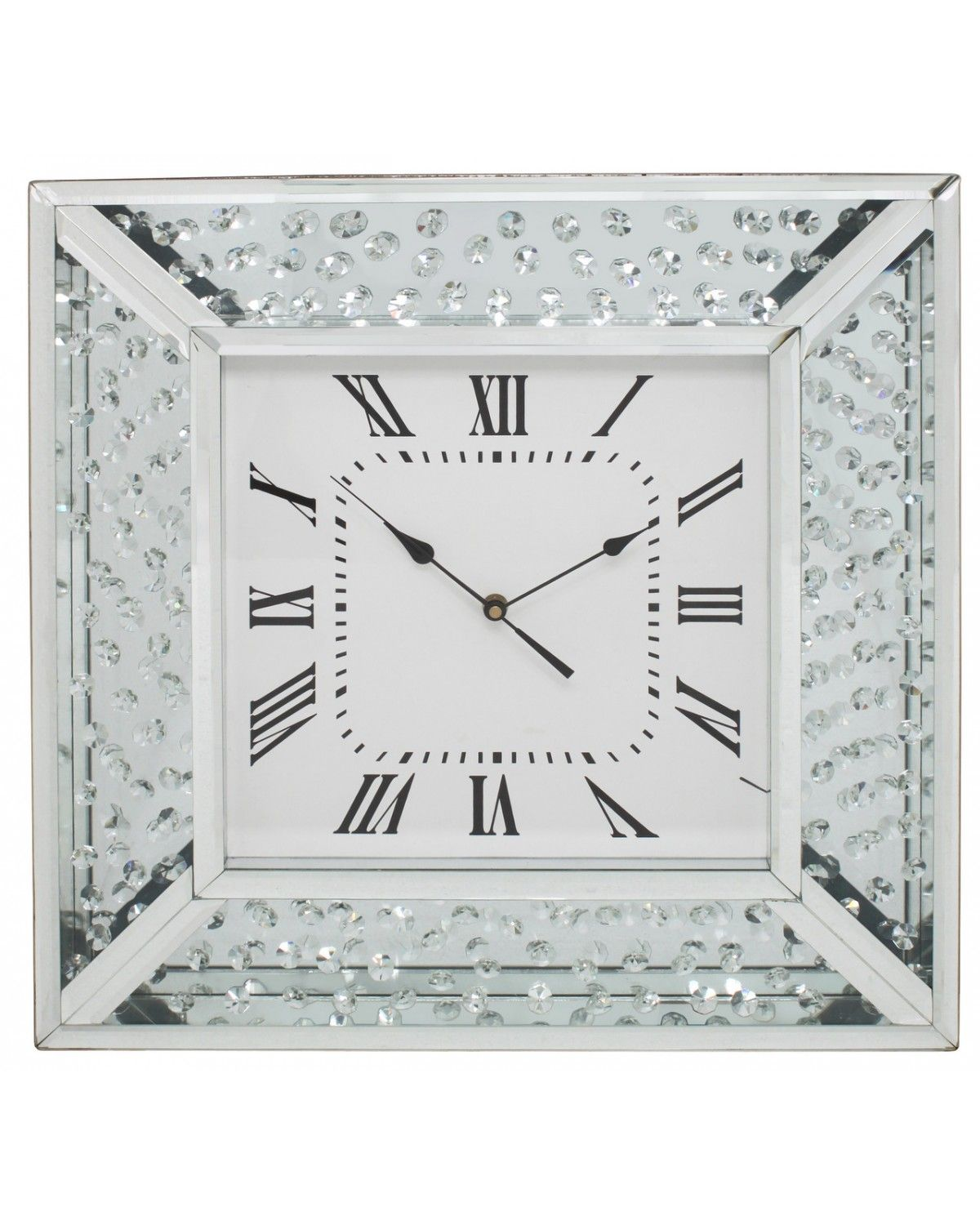 Am americana country wall clocks - Astoria Mirror Floating Crystal Wall Clock