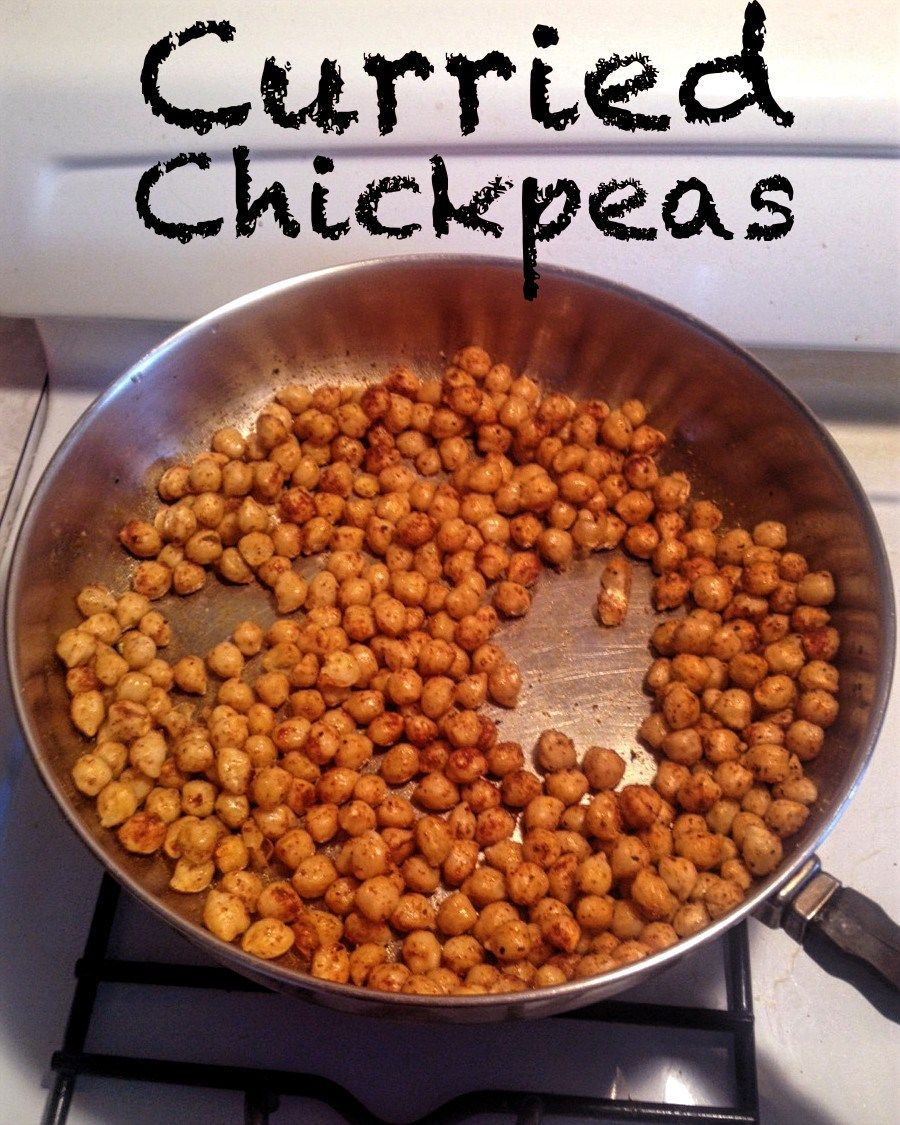 Curried chickpeas are one of my favorite bean dishes. They are versatile and can be flavored according to your tastes. Delicious!