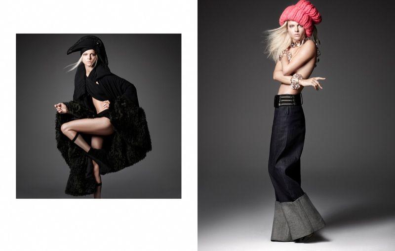 Viktoriya Sasonkina1 Viktoriya Sasonkina Wears Bold Style for Elle Mexico by Manolo Campion