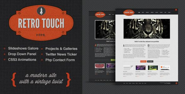 Retro Touch - Creative Portfolio Html Template | Template, Opera and ...
