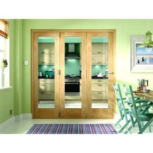 Wickes Ashton Fully Glazed Oak 1 Lite Internal Bi Fold 3