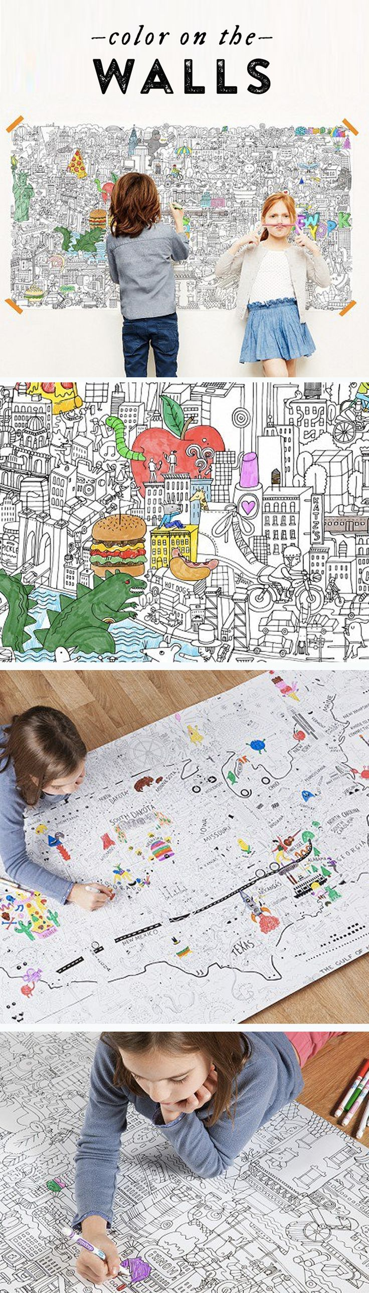 what kid wouldn u0027t love coloring on a wall pirasta makes enormous