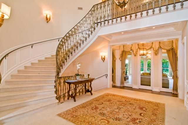 Staircase I Like The Upstairs And Downstairs Case Like This Beverly Park Mansions Luxury Mansions Homes