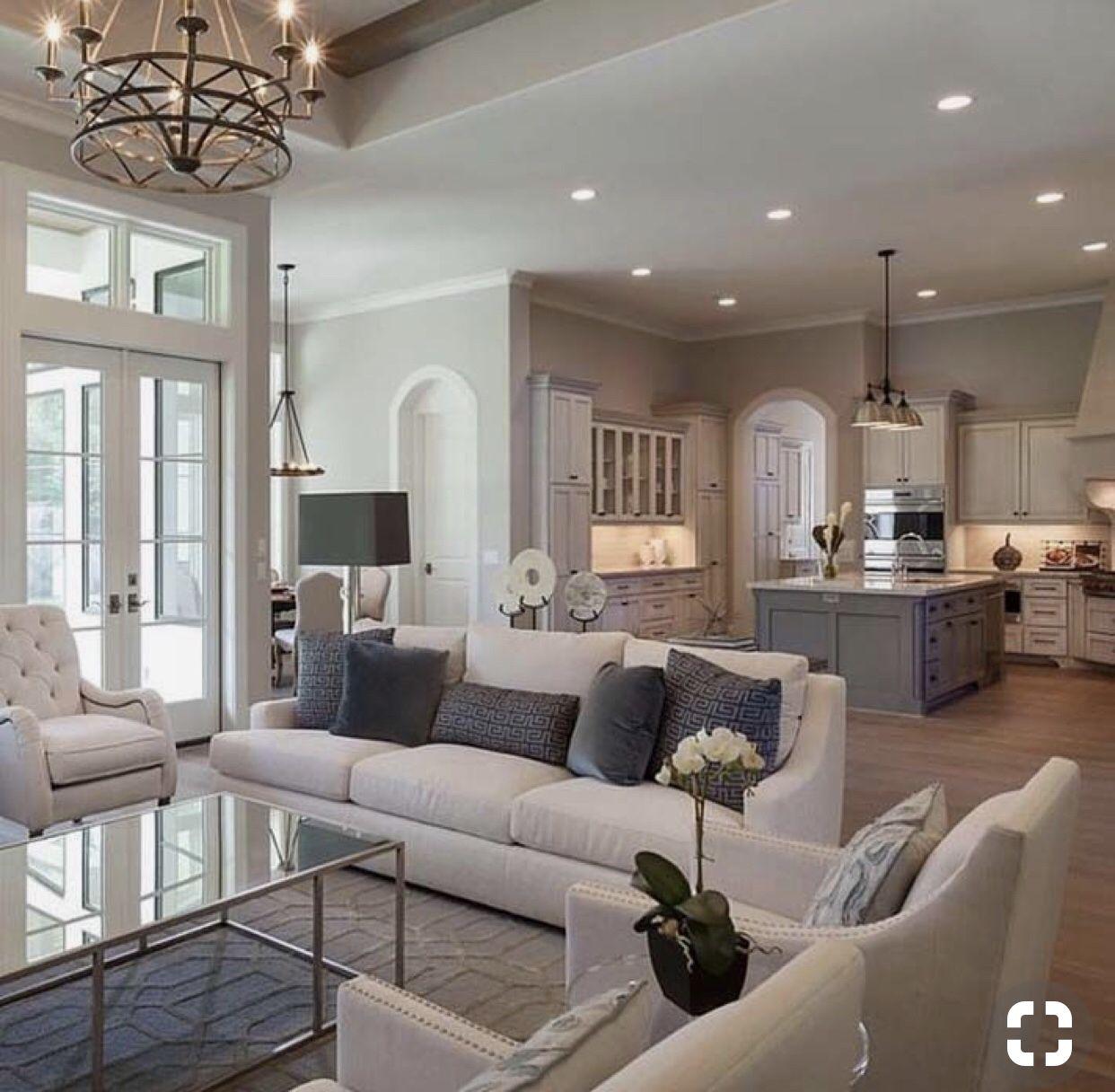 Family room design  Living room furniture arrangement, French