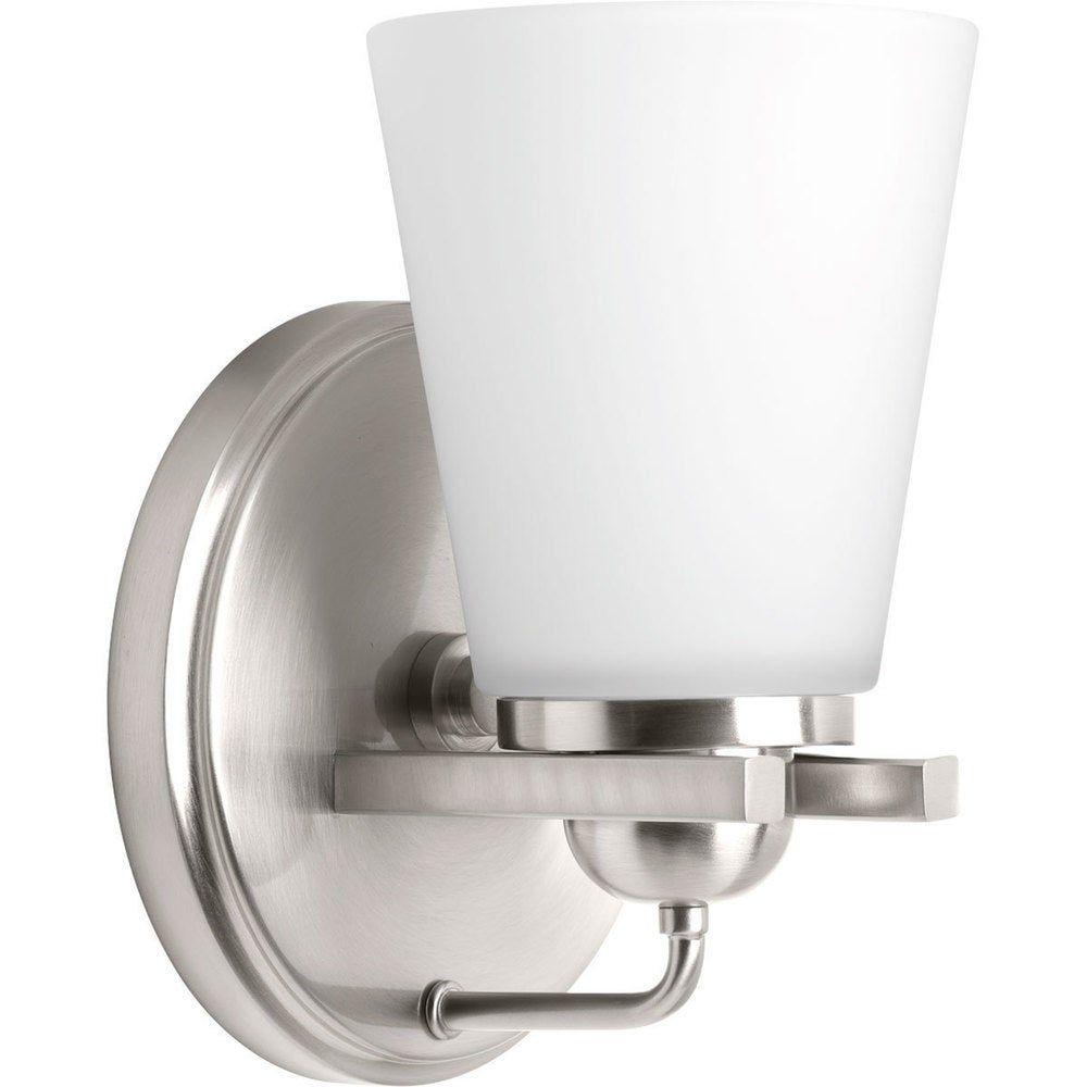 Photo of Progress Lighting Flight one-light bathroom mixer (brushed nickel), gray